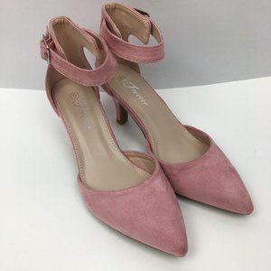 NEW Women's Pointed Toe Ankle Strap Buckle Stilett